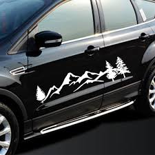 New Arrival 1pc 100cm Tree Mountain Forest Car Sticker 2 Colors Suv Rv Camper Offroad Decal Car Diy Decoration Car Stickers Aliexpress