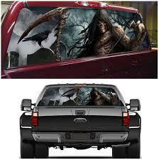 Graphics Decals Stylish Rear Window Graphic Decal Tint Sticker Eye Catching For Suv Truck Pickup Parts Accessories