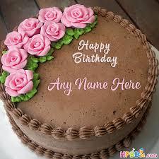 happy birthday chocolate cake with name