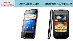 Acer Liquid Z110 & Micromax A57 Ninja 3 ...