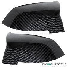 set carbon fibre side mirror cover fits