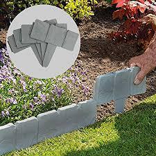 5m grey stone effect lawn edging