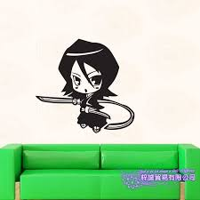 Bleach Kuchiki Rukia Car Decal Wall Sticker Cartoon Fans Vinyl Wall Stickers Car Decal Decor Home Decorative Wall Stickers Aliexpress