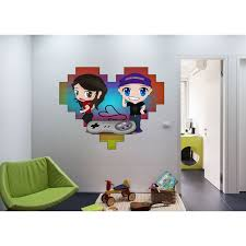 Shop Full Color Heart Computer Games Full Color Decal Full Color Sticker Colored Heart Sticker Decal 48 X 65 On Sale Overstock 15648828