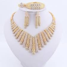 gold plated necklace earring set dubai
