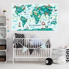 What A Wonderful World Map Decal Kids World Map Decal By Chromantics