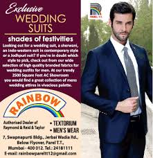 rainbow exclusive wedding suits shades
