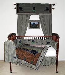 bear country crib bedding sets cabin place