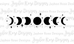 Moon Phases And Stars Eclectic Vinyl Decal Stickers Laptop Decal Car Sticker Yeti Tumbler Decal Minimalist Perf Yeti Tumbler Decal Star Vinyl Vinyl Decals