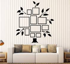 Vinyl Wall Decal Family Tree Frames For Photos Design For Living Rooms Wallstickers4you