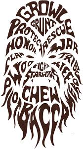 Download Half Off B3813 73618 Vinilo Decorativo Star Wars Chewbacca Wall Decal Star Wars Typographic Chewbacca Peel Png Image With No Background Pngkey Com