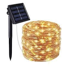solar powered string lights 66ft