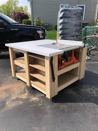 I Made This Table Saw Table With Storage And Adjustable Shelves Album In Comments Woodworking