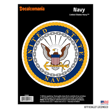 Officially Licensed United States Navy Decal Large 5 25 Us Military Sticker For Truck Or Car Windows Large Military Car Decals Military Collection Walmart Com Walmart Com