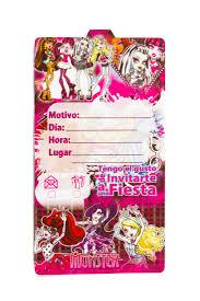 Tarjetas De Invitacion Monster High Mister Pinatas