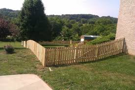 Simple Dog Ear Picket Fence Strangetowne Wood Fence Pickets Makes It Look More Sophisticated