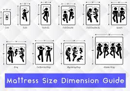 mattress size chart and mattress