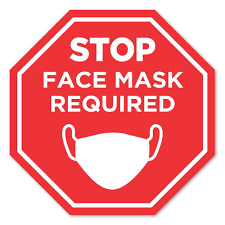 12 X 12 Stop Face Mask Required Removable Octagon Wall Decal Positive Promotions