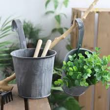 Hot Discount 868f 1pcs Removable Hook Wall Fence Bonsai Flower Tub Pots Iron Bucket Tin Garden Balcony Hanging Succulent Basket Plant Pot Cicig Co