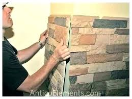 faux stone fireplace panels