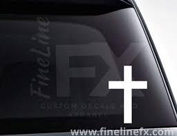 Christian Cross Vinyl Decal Sticker