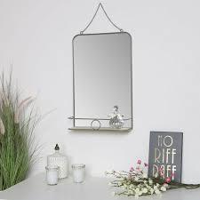 grey metal vanity wall mirror with