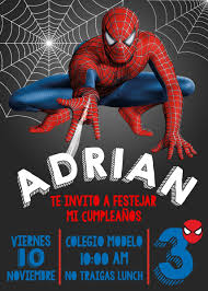 Invitacion Digital E Imprimible Spiderman 75 00 En Mercado Libre