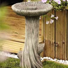 natural style bird bath log bird baths
