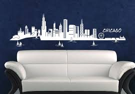 Cities Places Chicago Wall Chicago Skyline Wall Art Wall Decor Decals