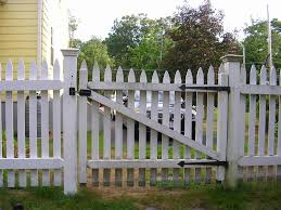 White Picket Fence Gate Decoratorist 37364