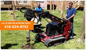 Post Hole Digger Post Hole Digging Fence Or Deck Repair Scarborough Thornhill Richmond Hill Mississauga Brampton Toronto Markham