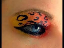 neon cheetah makeup tutorial