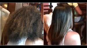 frizz free hair keratin treatment on