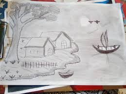 beautiful scenery drawing by pratham