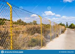 Industrial Wire Fence Panels Metal Fence Panel Stock Photo Image Of Empty Fence 181069348
