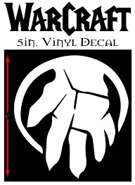 Warcraft Shattered Hand Logo 5 Quot Vinyl Window Decal White Red Black Alien Green Silver Free Shipping Vinyl Window Decals Hand Logo Vinyl