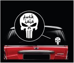 Punisher Skull Fuck Isis Window Decal Sticker Custom Sticker Shop