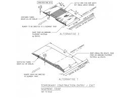 Temporary Construction Entry And Exit Sediment Trap Detail Free Cad Blocks In Dwg File Format