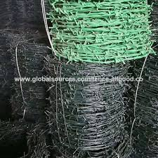 Chinagreen Pvc Coated Steel Thorn Wire Fence Plastic Coating Barbed Wire Fencing On Global Sources