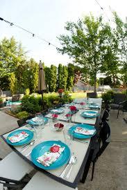 patio backyard summer party dinner