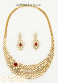 18k diamond necklace sets vvs clarity