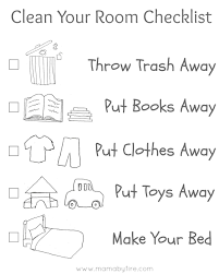 Mama By Fire Clean Your Room Checklist