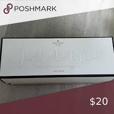 New With Box Kate Spade Just Married In 2020 Just Married Spade Kate