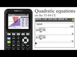 solving quadratic equations on the ti
