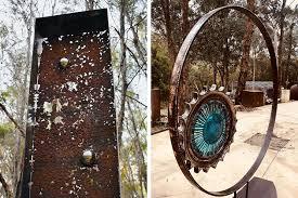 recycled metal sculptures and garden art