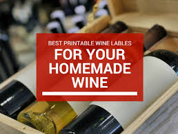 best printable wine labels for your