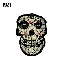 Yjzt 8 6cm 12cm Car Sticker Visionary Misfits Crystal Lake Skull Windows Decal Pvc 6 0149 Car Stickers Aliexpress