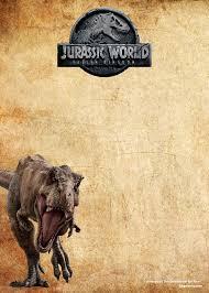 Free Jurassic Park Dinosaurs Vintage Invitation Templates Com