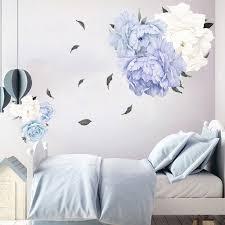 Ilh Peony Rose Flowers Wall Art Sticker Decals Kid Room Nursery Home Decor Gift Walmart Com Walmart Com