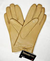 isotoner tan leather winter gloves size